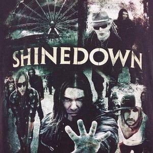 Shinedown 2010 Tour Concert Graphic T Shirt Size M
